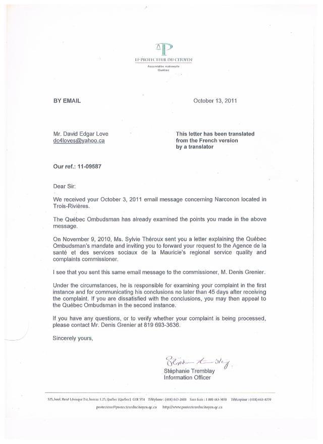 Ombudsman Reply